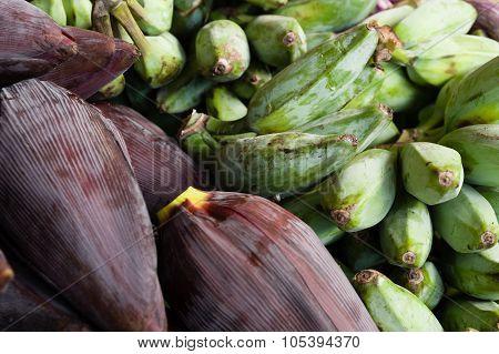 Banana Flower And Ash Plantain