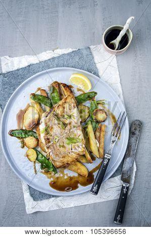 Coalfish Filet with Vegetable