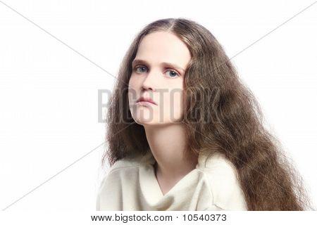 Sad Melancholic Depressive Woman