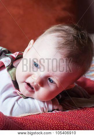 Cute Caucasian Baby Girl Portrait