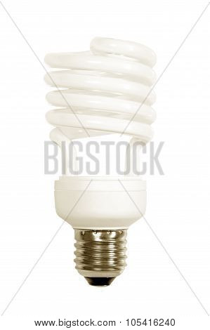 Energy Save Lamp Isolated On White.