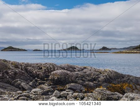 Seascape in the West Highland of Scotlands