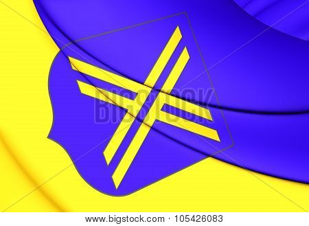 Flag Of Castrop-rauxel (north Rhine-westphalia), Germany.