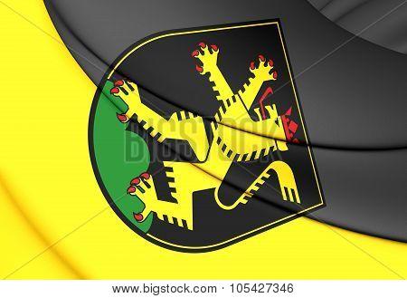 Flag Of Heidelberg (baden-wurttemberg), Germany.