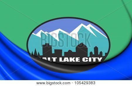 Flag Of Salt Lake City (utah), Usa.