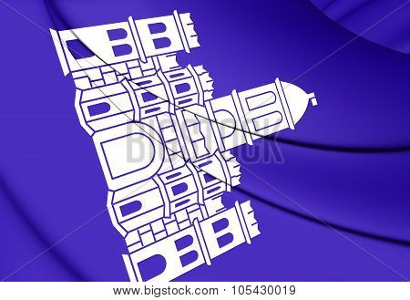 3D Flag of Split Croatia. Close Up. poster