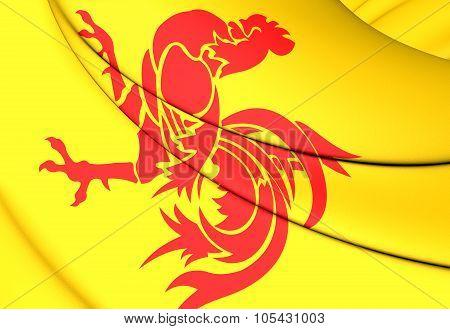 Flag Of Wallonia Region, Belgium.