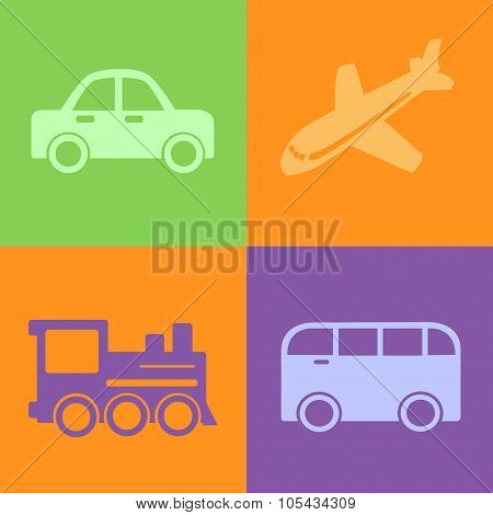 Traveling Transpot Icons