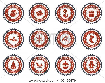 Christmas Badge and Design Elements