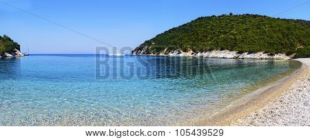 Filiatro beach in Ithaca Greece