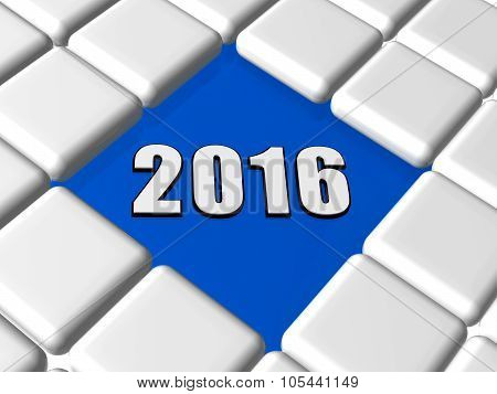 3D New Year 2016 In Boxes