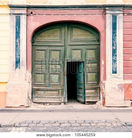 Doorway in a vintage gate