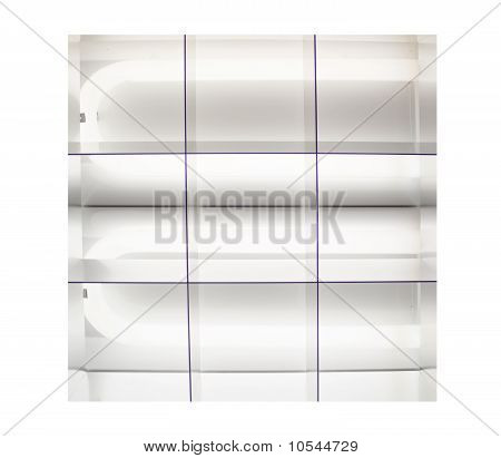Fluorescent Lights That Are Lit Up