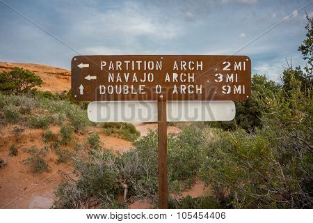 Partition And Navajo Arch Sign