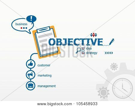 Objective Design Concept And Notebook For Efficiency, Creativity, Intelligence.