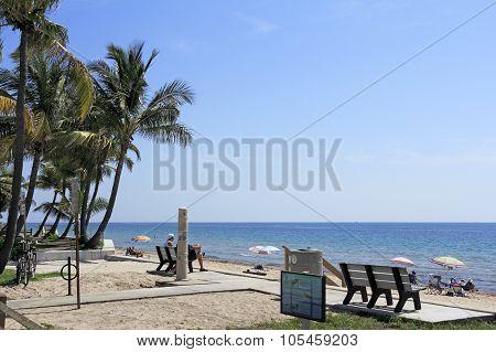 People Enjoying Lauderdale Beach Park