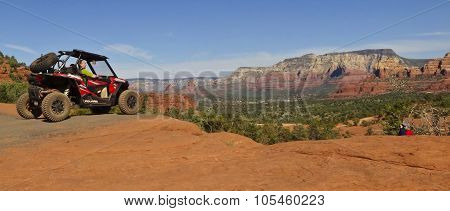 A Photographer Shoots A Four Wheeler In Sedona