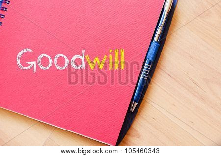 Goodwill Write On Notebook