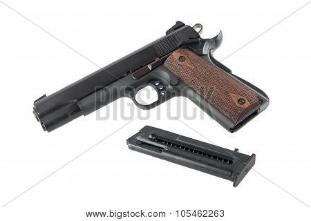 Semi-automatic Pistol With Removed Magazine