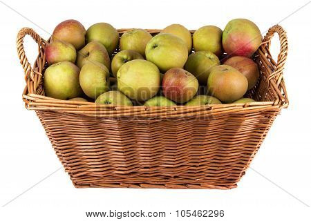 Basket Of Apples On Stock