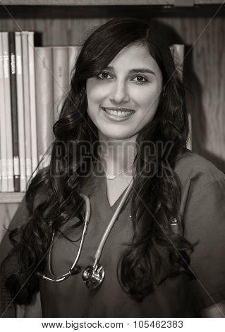Portrait of beautiful nurse/doctor