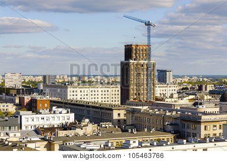 Skyscraper Towering Over Center Of Warsaw