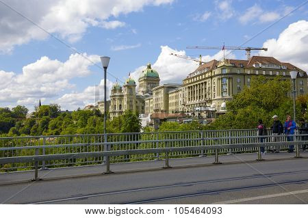 The Government Building And Hotel Bellevue Palace