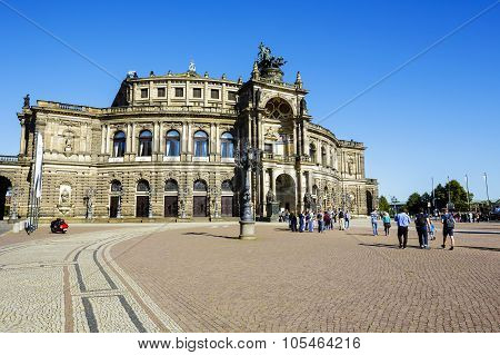 The Opera House In Dresden Named Semperoper