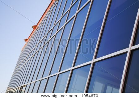A Wall Of Office Building.