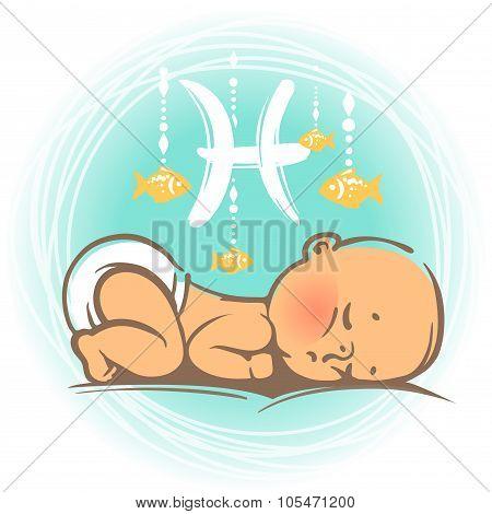 Baby zodiac Pisces