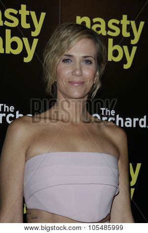 LOS ANGELES - OCT 19: Kristen Wiig at the Premiere of Nasty Baby at ArcLight Cinemas on October 19, 2015 in Los Angeles, California.