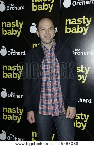 LOS ANGELES - OCT 19: Paul Scheer at the Premiere of Nasty Baby at ArcLight Cinemas on October 19, 2015 in Los Angeles, California.