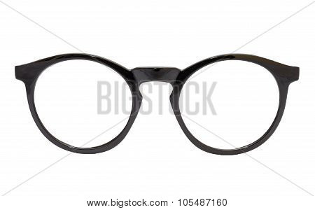 The Modern Black Glasses Isolated On White Background