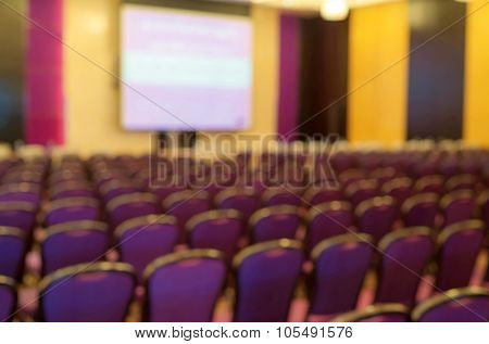 Abstract Blurred The Empty Meeting Or Conference Room