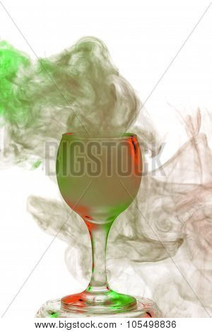 Witch Potion. Smoke In A Glass. Halloween.