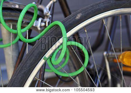 Locked Bike.