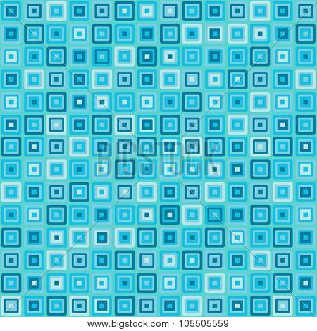 Vector Vintage Turquoise Square Rectangles Geometric Pop Design Wallpaper Background