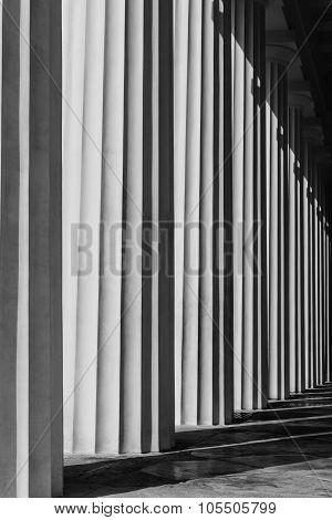 Abstract Structure Of Grey Columns-vienna, Austria