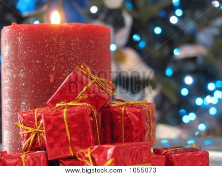 Candle And X-Mas Gifts
