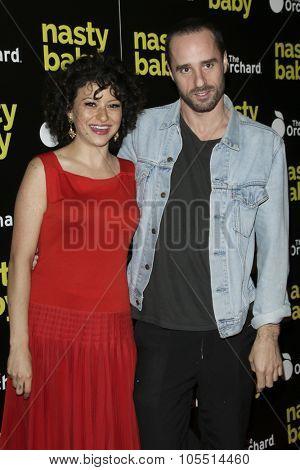LOS ANGELES - OCT 19:  Alia Shawkat, Sebastian Silva at the