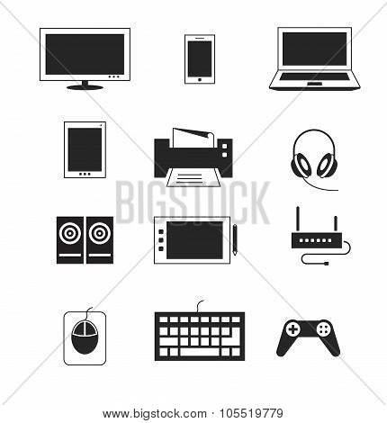 Computer electronic device vector templates