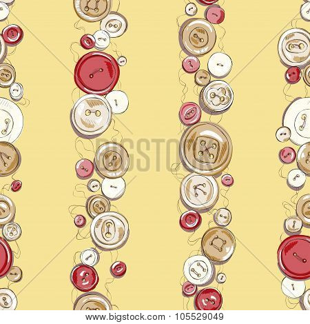 Strips of hand drew buttons. vector illustration