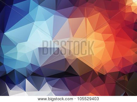 Colorful Pattern Of Angular Geometric Shapes