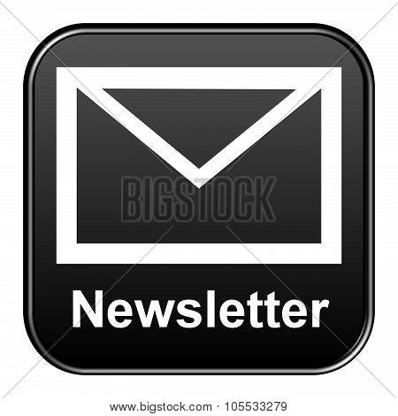 Black Button Showing Newsletter