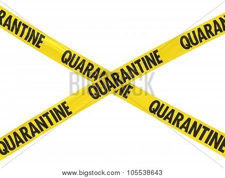 Yellow Quarantine Barrier Tape Cross