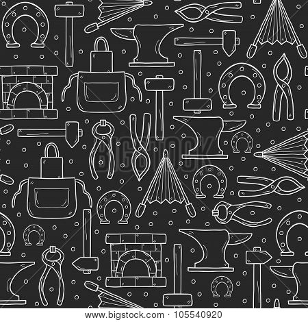 Seamless blacksmith background