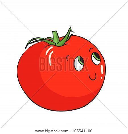 Vegetable tomato vector illustration