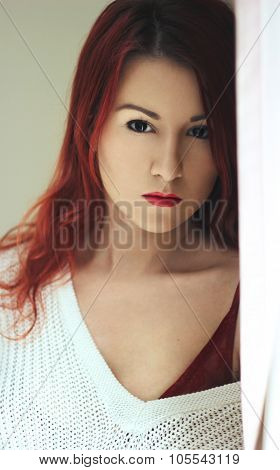 The Young Redhead Woman Mistery Portrait
