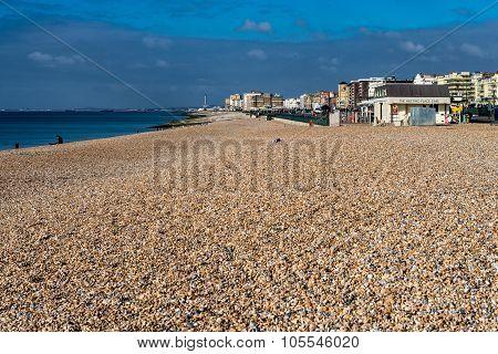 Hove beach and sea