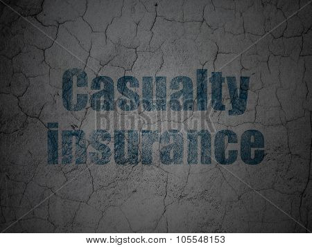 Insurance concept: Casualty Insurance on grunge wall background